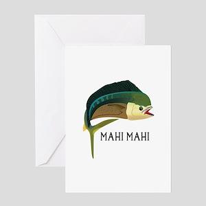MAHIMAHI FISH Greeting Cards