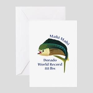 WORLD RECORD MAHI MAHI Greeting Cards