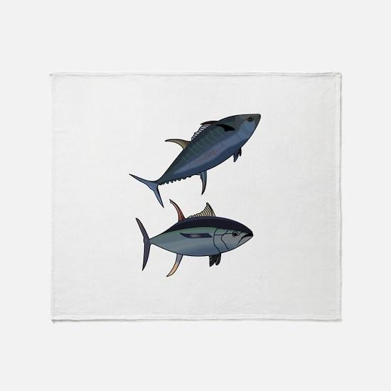 TUNA FISH Throw Blanket