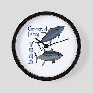 TUNA COMMERCIAL FISHING Wall Clock