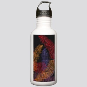 Coloured Feathers on B Stainless Water Bottle 1.0L