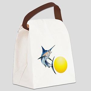SWORDFISH AND SUN Canvas Lunch Bag