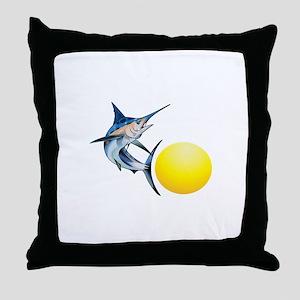 SWORDFISH AND SUN Throw Pillow