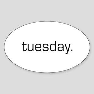 Tuesday Oval Sticker
