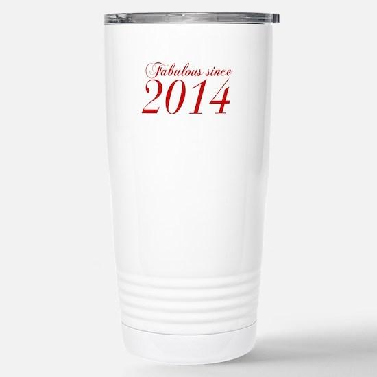 Fabulous since 2014-Cho Bod red2 300 Travel Mug