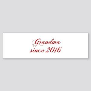 Grandma since 2016-Cho red2 170 Bumper Sticker