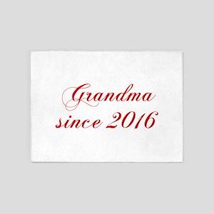 Grandma since 2016-Cho red2 170 5'x7'Area Rug