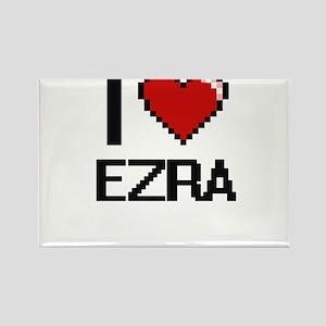 I Love Ezra Magnets