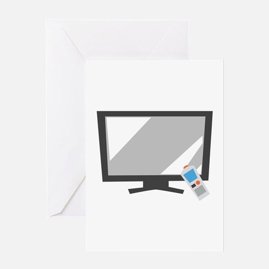 Flat Screen TV Greeting Cards