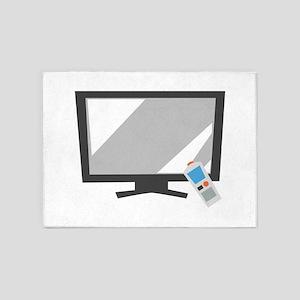 Flat Screen TV 5'x7'Area Rug