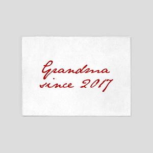 Grandma since 2017-Jan red2 250 5'x7'Area Rug