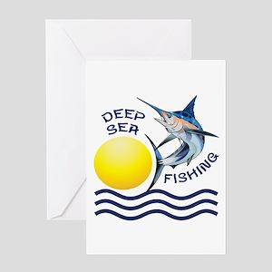 DEEP SEA FISHING Greeting Cards