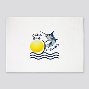 DEEP SEA FISHING 5'x7'Area Rug