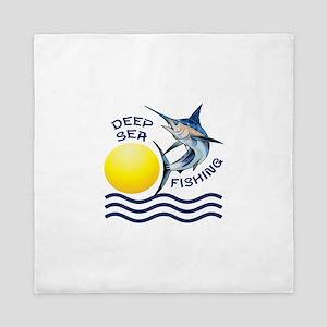 DEEP SEA FISHING Queen Duvet
