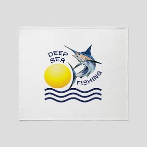 DEEP SEA FISHING Throw Blanket