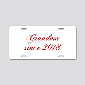 Grandma since 2018-Cho red2 170 Aluminum License P