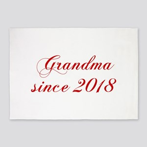 Grandma since 2018-Cho red2 170 5'x7'Area Rug