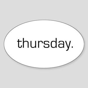 Thursday Oval Sticker