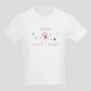 Reinna turns 1 today Kids Light T-Shirt
