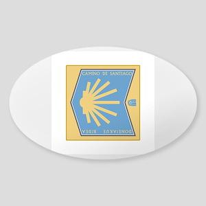 Camino de Santiago Spanish-Basque, Sticker (Oval)