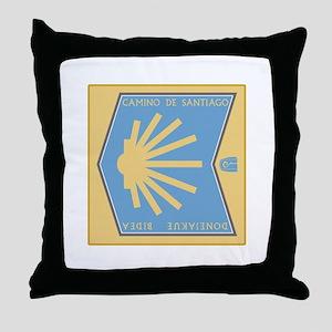Camino de Santiago Spanish-Basque, Sp Throw Pillow