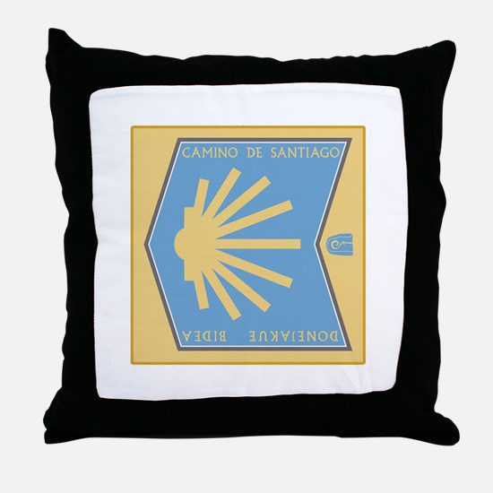 Camino de Santiago Spanish-Basque, Sp Throw Pillow
