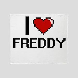 I Love Freddy Throw Blanket