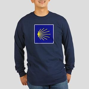 Camino de Santiago, Spain Long Sleeve Dark T-Shirt