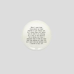 Shaved It Off (blk) - Napoleon Mini Button