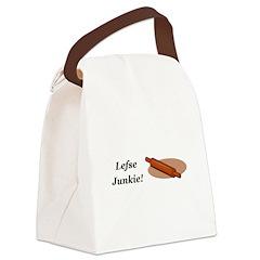 Lefse Junkie Canvas Lunch Bag