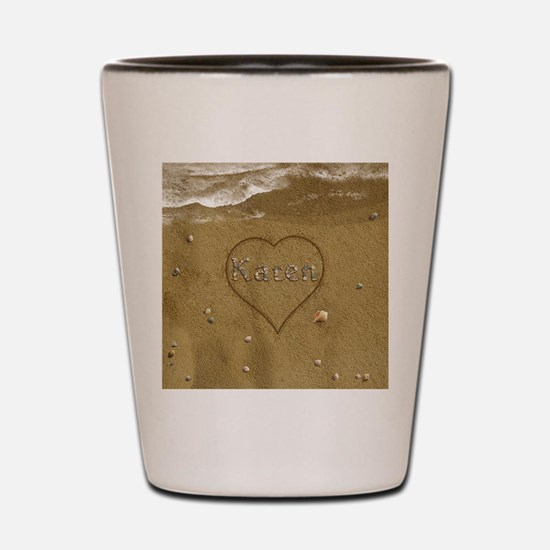 Karen Beach Love Shot Glass