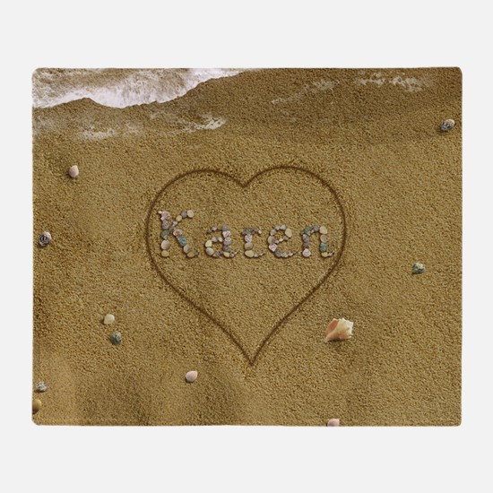 Karen Beach Love Throw Blanket