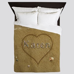 Karen Beach Love Queen Duvet