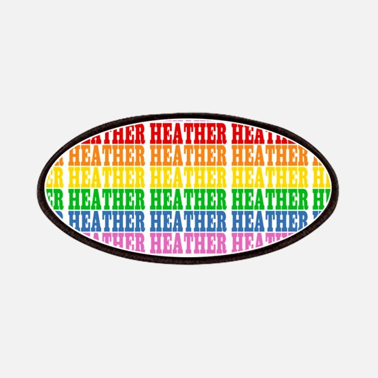 Rainbow Name Pattern Patches