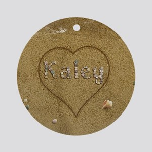 Kaley Beach Love Ornament (Round)