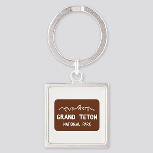 Grand Teton National Park, Wyoming Square Keychain