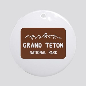 Grand Teton National Park, Wyomin Ornament (Round)