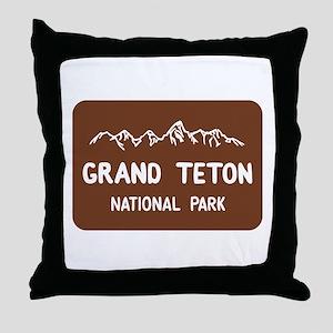 Grand Teton National Park, Wyoming Throw Pillow