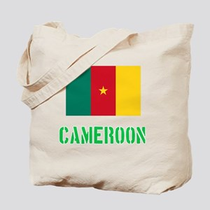 Cameroon Flag Stencil Green Design Tote Bag