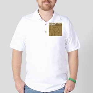K Beach Love Golf Shirt