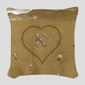 K Beach Love Woven Throw Pillow