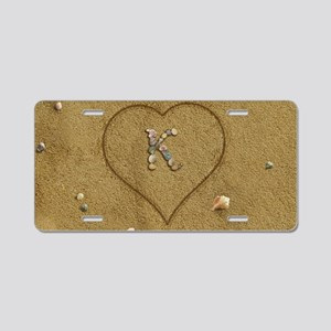 K Beach Love Aluminum License Plate