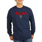 Navy Major Hunk Long Sleeve Dark T-Shirt