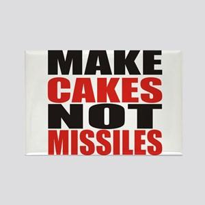 Make Cakes Not Missiles Rectangle Magnet