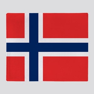 Flag of Norway Throw Blanket