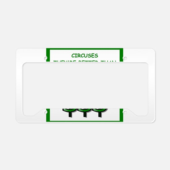 circuses License Plate Holder