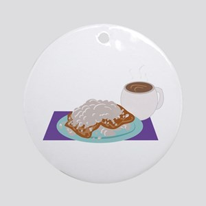 Beignet Breakfast Ornament (Round)