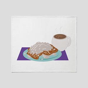 Beignet Breakfast Throw Blanket