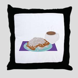 Beignet Breakfast Throw Pillow