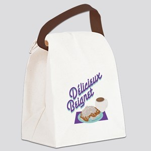Delicieux Beignet Canvas Lunch Bag